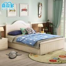 全实木儿童床1.2米1.5女孩公主床男孩王子床儿童卧室家具套装套房