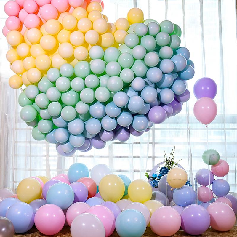 气球结婚加厚汽球装饰场景布置五一马卡龙儿童劳动节生日派对婚房