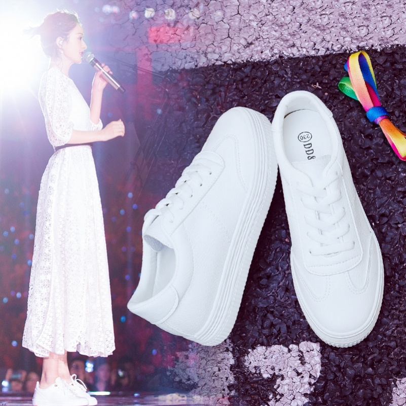 Spring and autumn new low heel flat shoes leisure sports small white single shoes travel shoes students middle-aged girl mother