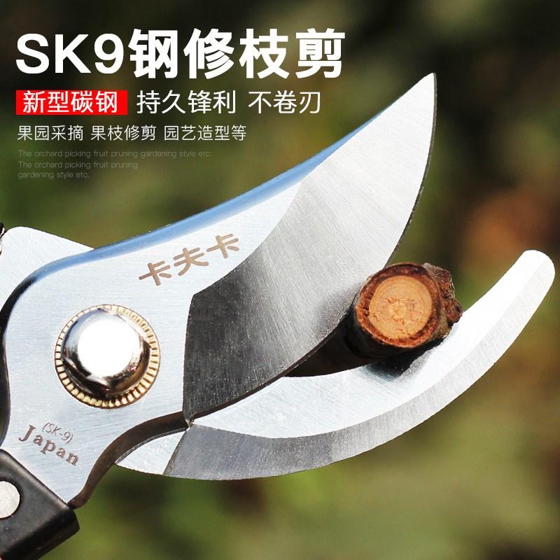 卡夫卡进口SK9钢省力园艺园林工具修果树枝花枝花艺修枝剪刀剪子