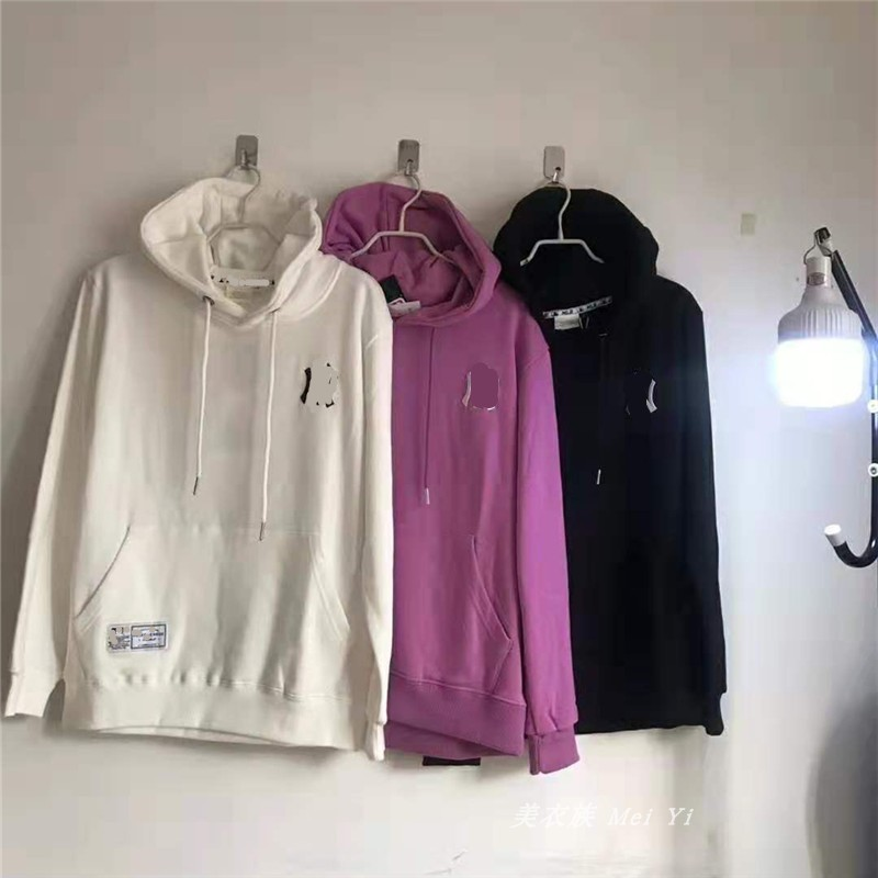 Spring and autumn womens long sleeve loose round neck Pullover mens couple coat Yankees Hoodie