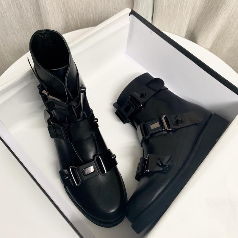 年新款秋季网红短筒早秋英伦风靴子女超火百搭黑色短靴2019马丁靴