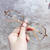 超轻多边形近视眼镜女可配有度数网红款大脸素颜眼睛框架男韩版潮