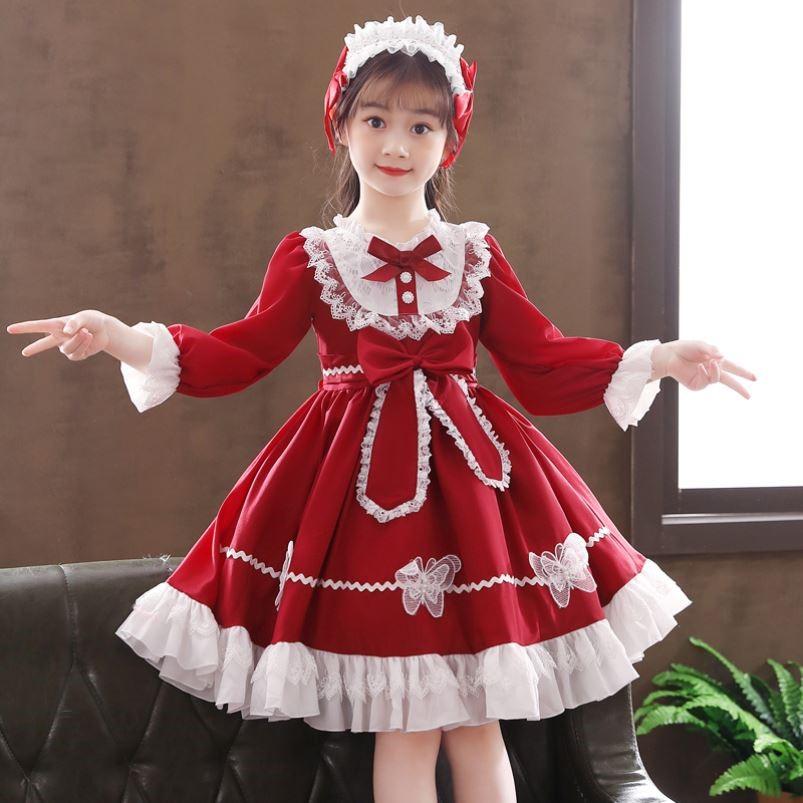 女童连衣裙春装洛丽塔lolita裙子萝莉塔春秋装洋气童装儿童公主裙