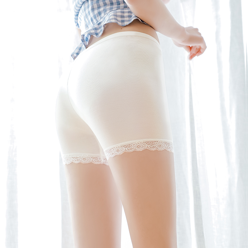 安全裤防走光女夏天季蕾丝学生冰丝无痕内穿打底保险短裤外穿薄款