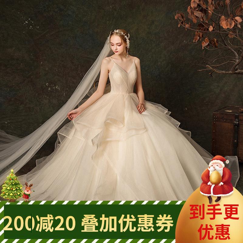 婚纱 吊带