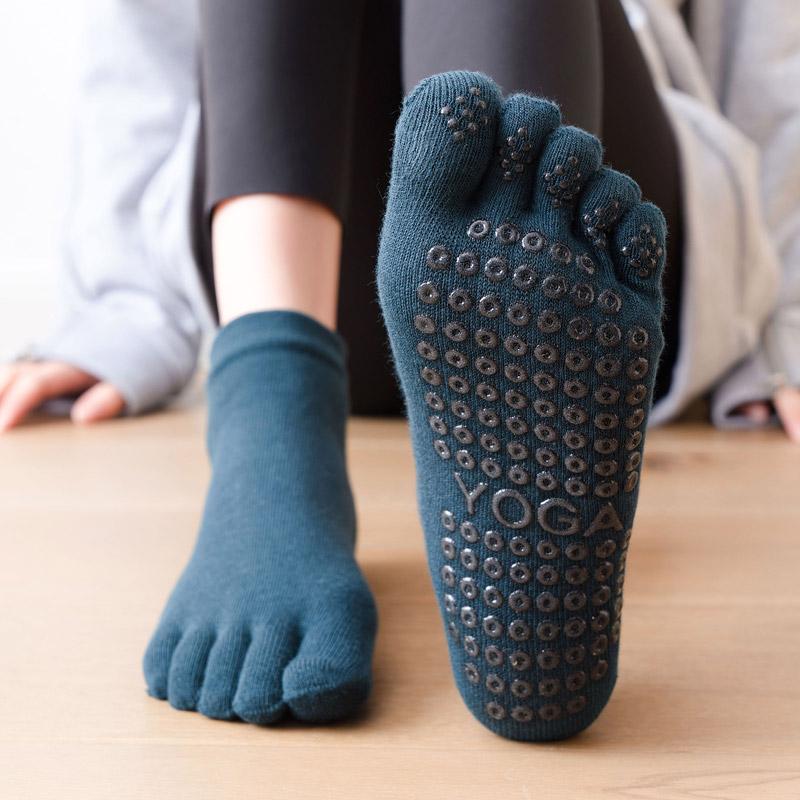 中國代購|中國批發-ibuy99|五指袜|TAZK五趾瑜伽袜全指精梳棉瑜珈舞蹈五指防滑室内健身运动场馆袜子