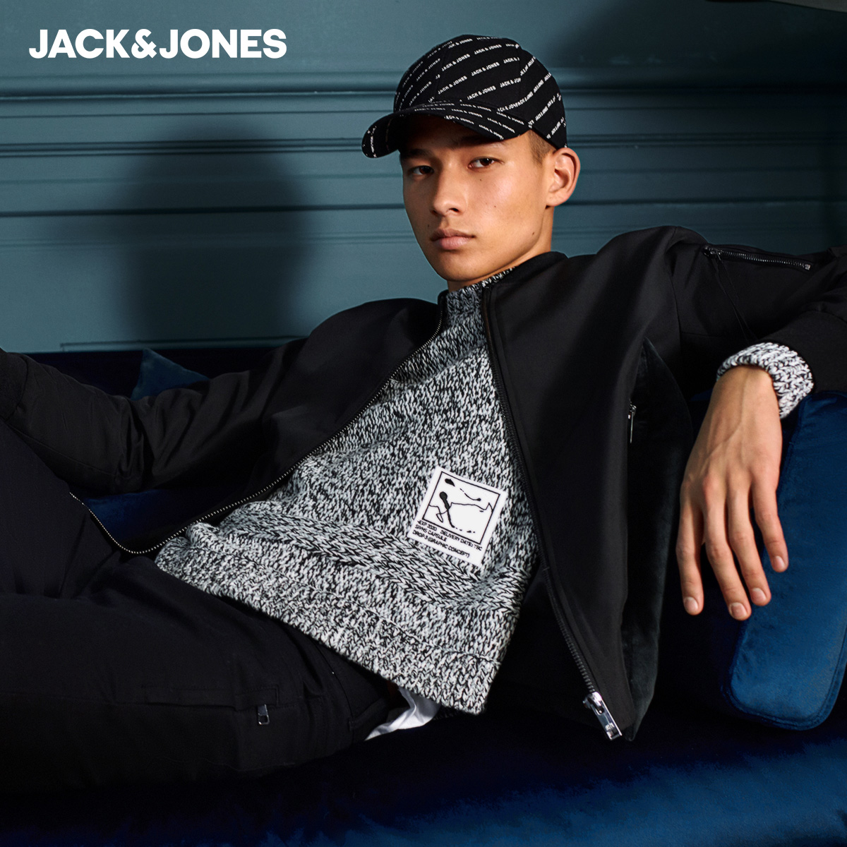Jack Jones baseball uniform fashion solid color work jacket short coat men's spring wave 220121519