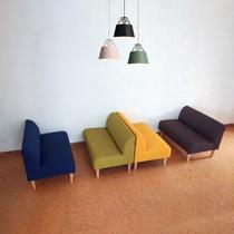 极简易窄小空间美甲卡座阳台奶茶店铺双人三人沙发椅无扶手60cm宽