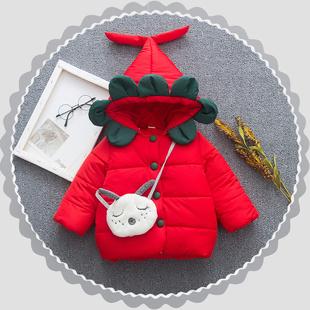 童裝女童棉服加厚加絨嬰兒童棉衣外套0一1-2-3歲小童寶寶冬裝棉襖