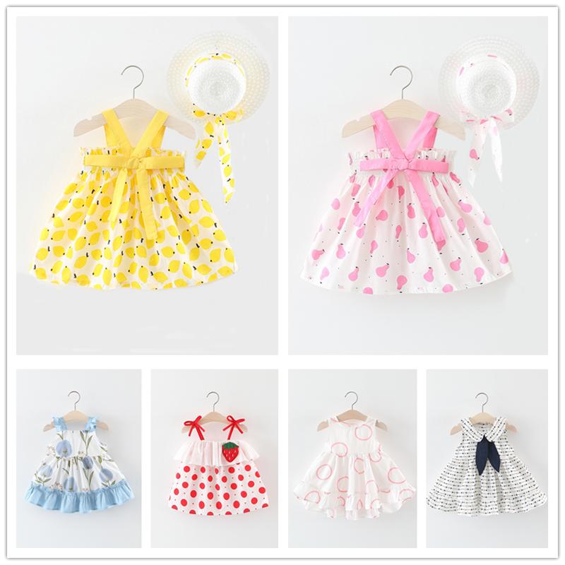 女童连衣裙2019新款小童女宝宝夏装吊带裙子0-1-2-3岁儿童公主裙