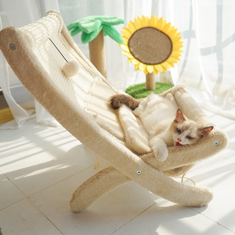 创意椅子晒太阳加绒子猫躺椅猫抓板10-20新券