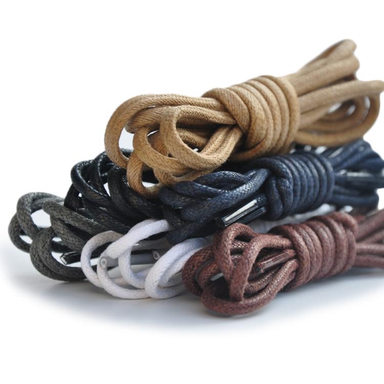 休闲短靴子工装靴马丁靴女靴男皮鞋细打蜡鞋带圆形白黑棕色鞋绳子