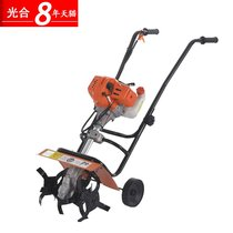 Photosynthetic micro tiller pastoral management of agricultural loose soil earth-turning machine small rotary tillage operator pull recoil Micro tiller