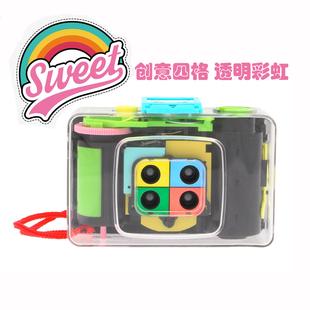 复古Lomo相机 ActionSampler Clear 彩虹四格透明板135胶卷相机