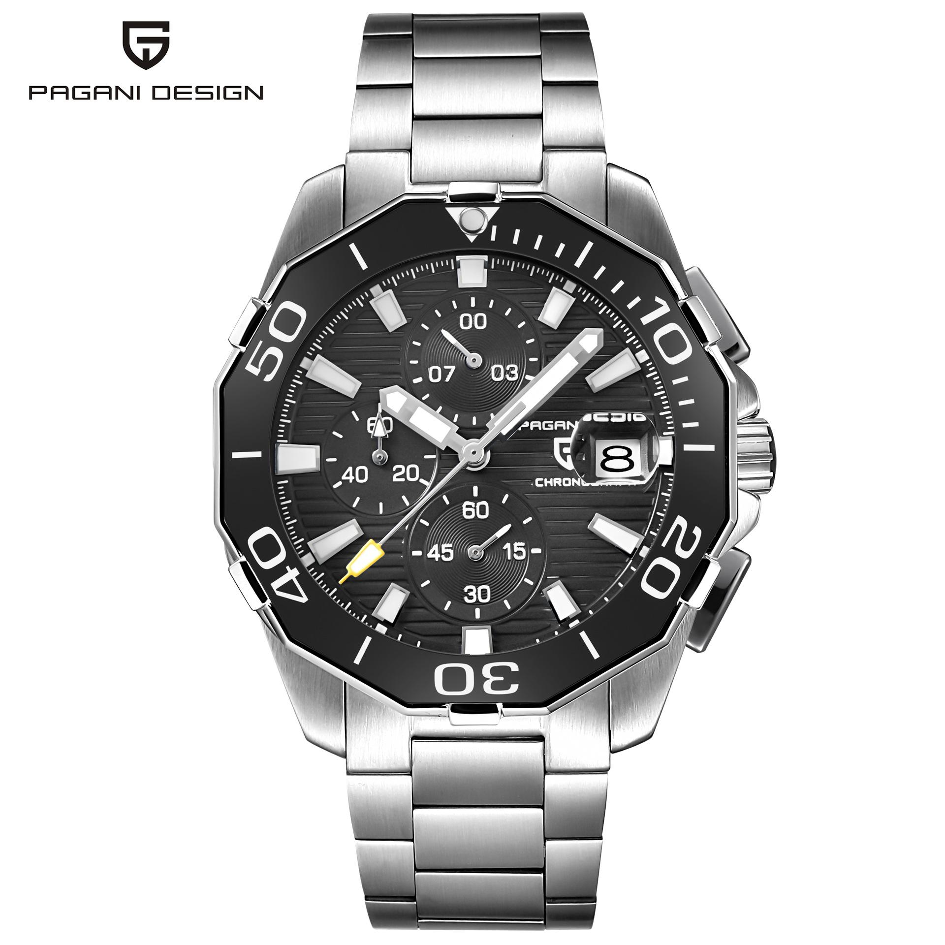 スチールケースクリスタルガラス時計おしゃれな男性ソリッドバンド腕時計高級セラミックリングクォーツ腕時計