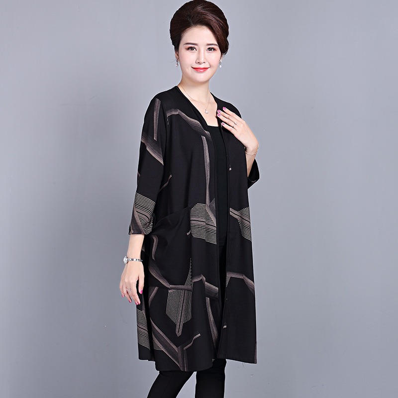 200kg extra large fat woman windbreaker fat mother spring and autumn coat fattened and enlarged oversized shawl for middle-aged and elderly women
