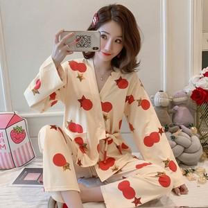 2019秋冬季睡衣女长袖韩版宽松和服套装 690# 200克牛奶丝