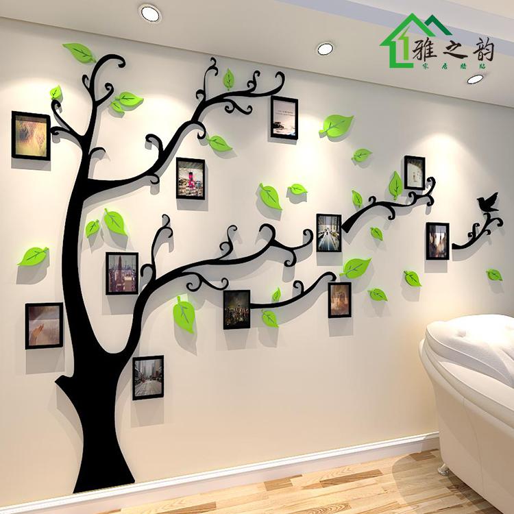 照片树3d亚克力立体客厅餐厅贴画