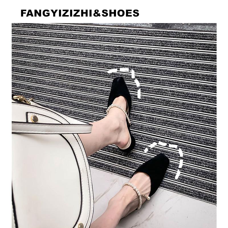 【方艺】复古 珍珠 中跟 粗跟 单鞋女 一字扣 玛丽珍鞋 小众 通勤