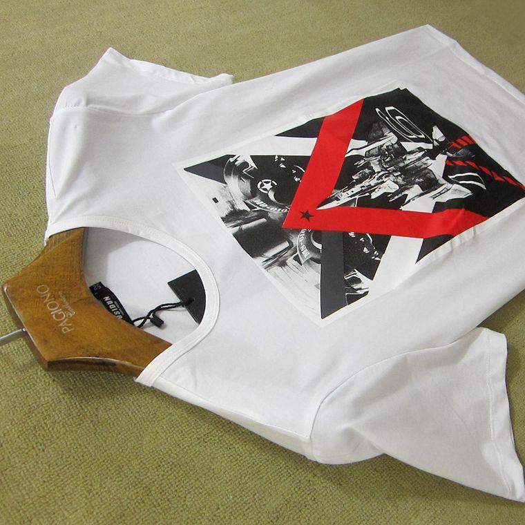 男款透气 男装短袖T恤男夏季新品印花修身潮牌Polo衫
