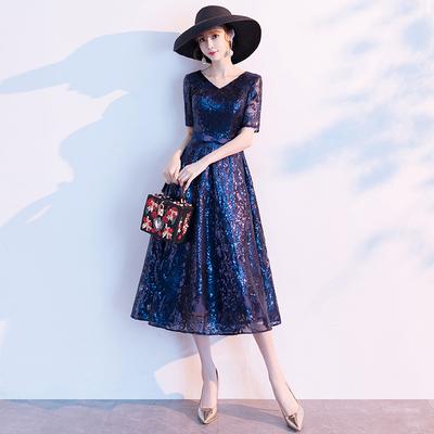 高端晚礼服女气场女王宴会高贵气质名媛年会主持人连衣裙平时可穿