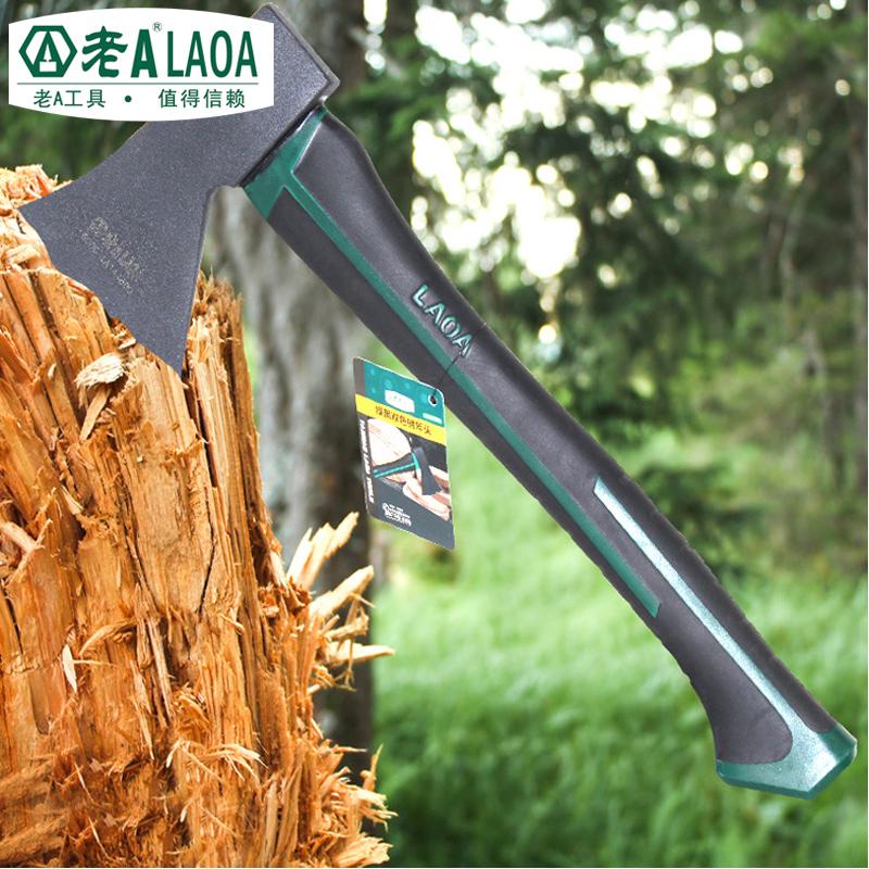 老A(LAOA) 双色柄木工斧头 开山野营斧子 采伐 消防600G