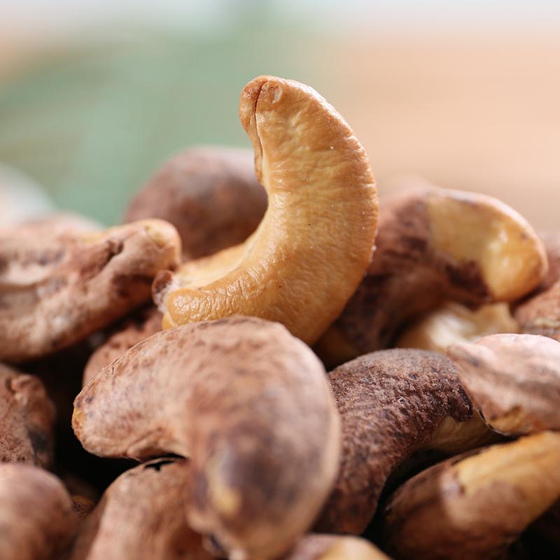三味好农腰果仁500g盐焗烘焙带衣紫带皮越南坚果零食散装称重干果