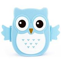 Blue 2 Layer Cartoon Owl Lunchbox Bento Lunch Box Food Fruit