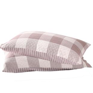 两条装纯棉纱布一对装学生大枕芯套