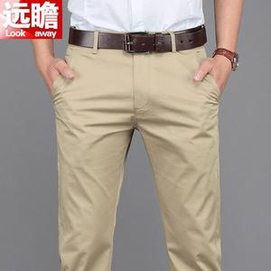 领5元券购买夏季休闲裤男宽松冰丝男裤商务超薄长裤男士西裤薄款直筒大码裤子