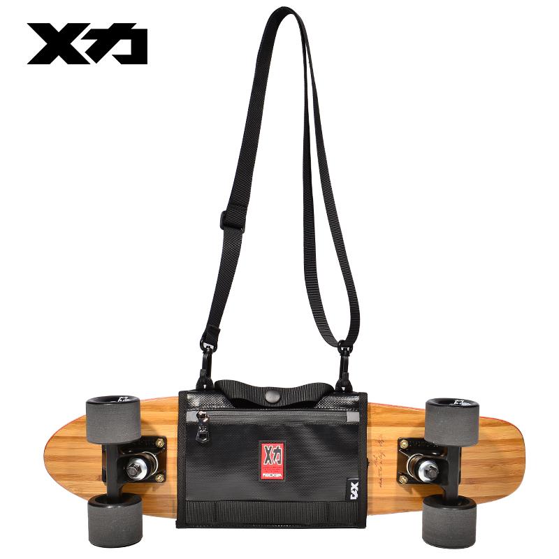 Mackar原创设计潮牌单肩滑板包手提肩袋街头潮流个性小鱼板包背包
