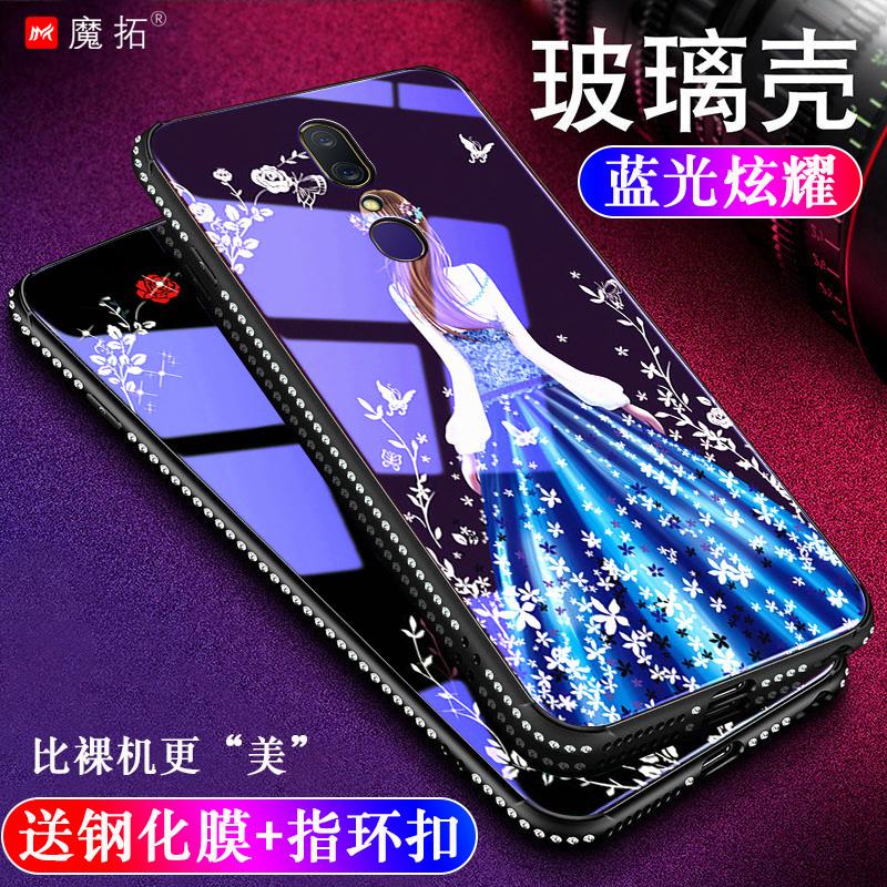 oppoA9x手机壳加钢化膜opoa9玻璃外套0p0pa带钻oppia个性a9x12月01日最新优惠