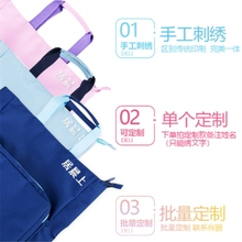 Deli hand bag primary and secondary school students' schoolbag work bag large capacity boys and girls carry schoolbag documents make-up bag hand bag stationery bag study bag make-up bag children's canvas
