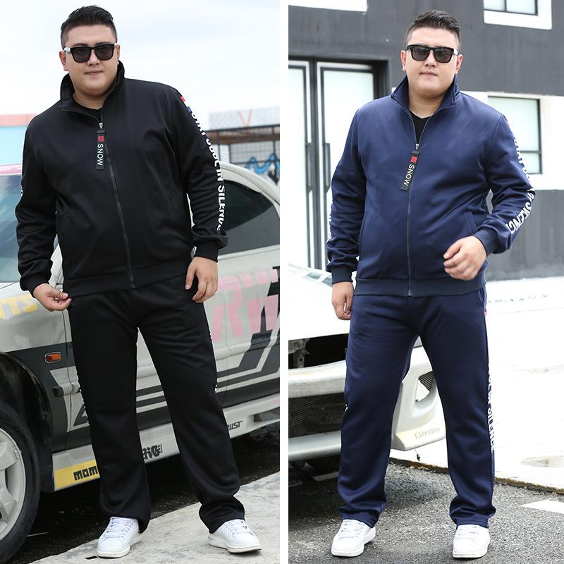 2019春季男士胖子休闲运动套装加大加肥码特大号宽松服装青少年佬