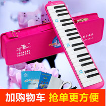 Swan gag piano 37 key mouth Pink organ student harmonica child into population playing piano instrument piano delivery bag