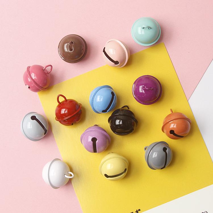 22mm糖果色烤漆金属小铃铛 diy宠物配饰 钥匙扣配件材料15色可选