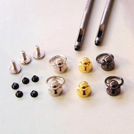 手机外壳工具打孔器外壳蘑菇头配件螺丝防摔手链挂圈