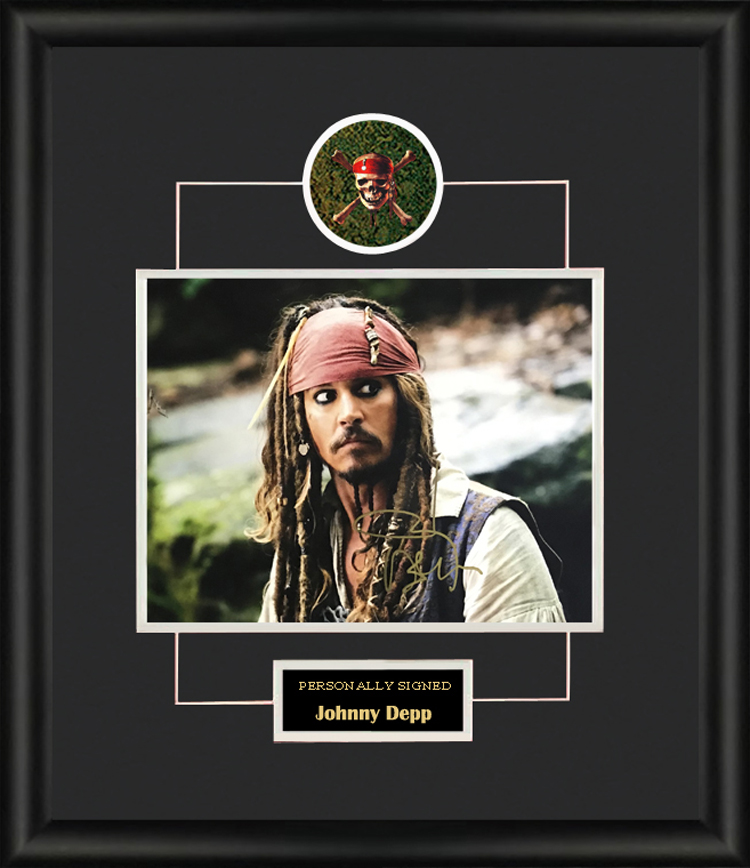 Collect Johnny Depps Autographed Photo Framed with SA certificate