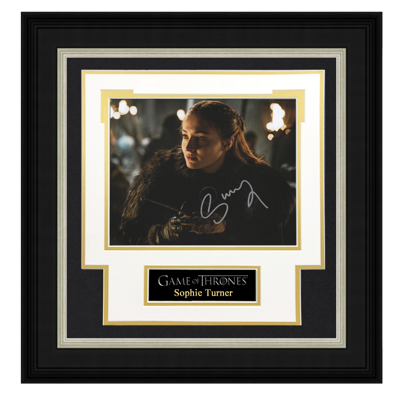 Sophie Turner Autographed Photo Framed with SA certificate power game Sansa Stark