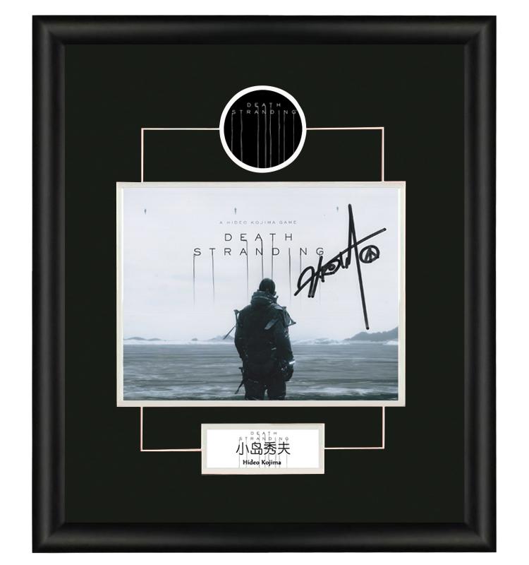 小岛秀夫 死亡搁浅 游戏设计师 亲笔签名照片 裱框含证书