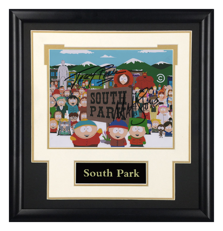 South Park animation director Trey Parker mattstone Autographed Photo Framed with SA certificate