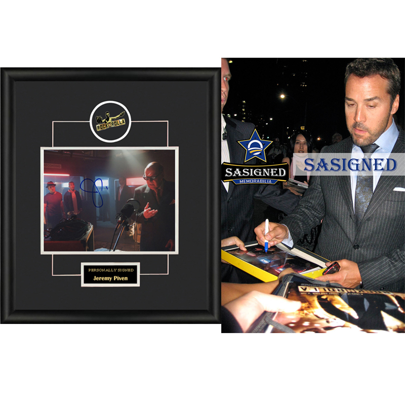 Collect Jeremy Pivens autographed photos framed with SA certificate SA proof rock band