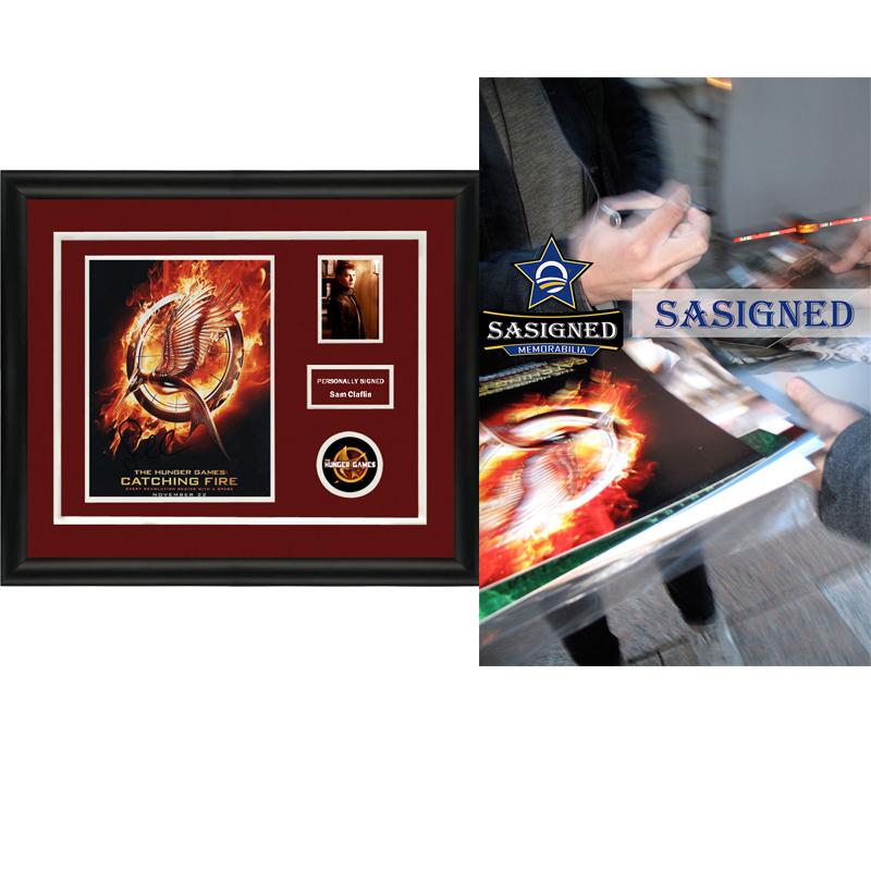 山姆克拉弗林 饥饿游戏 亲笔签名 照片裱框 含SA证书 SA Proof