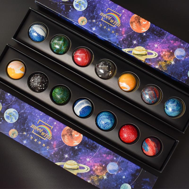 日式创意手工夹心星空星球巧克力礼盒装送男女友生日礼物代可可脂