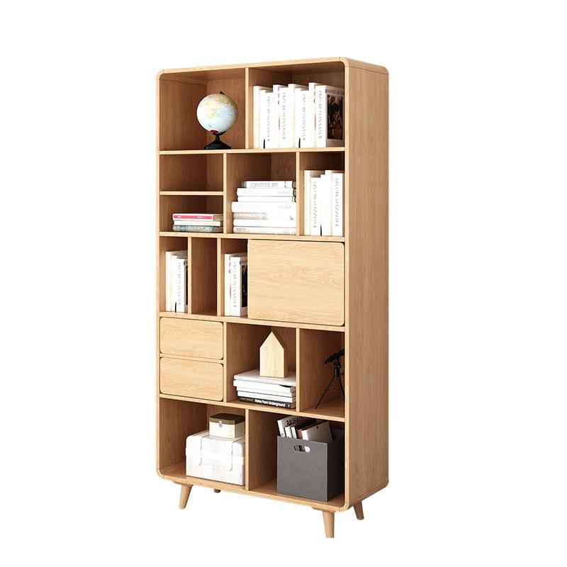 实木书柜简易家用学生北欧带储物柜质量怎么样