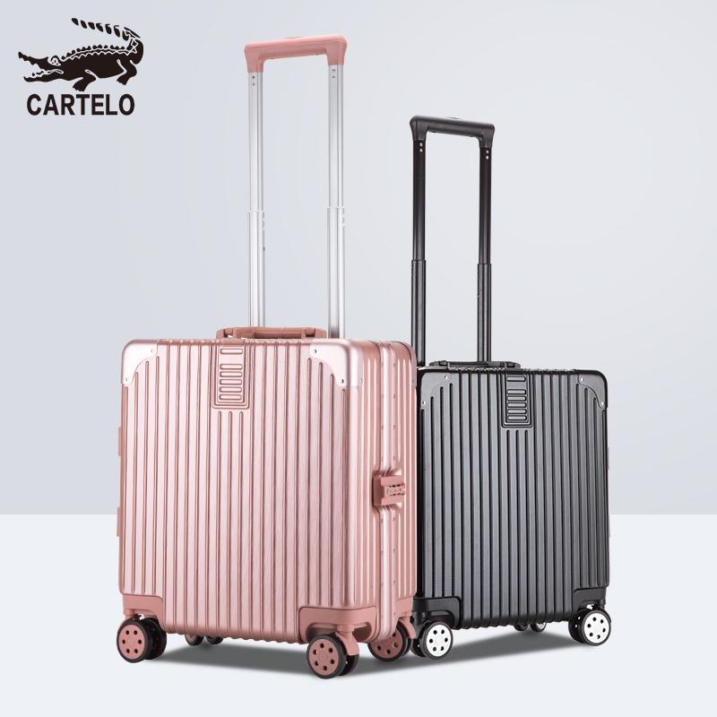 卡帝乐鳄鱼行李箱ins网红轻便小型拉杆箱密码旅行箱女18寸登机箱