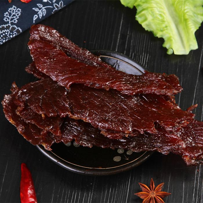 Genuine first grade cainiuba spicy original Caiji Niuba beef jerky snack in bulk