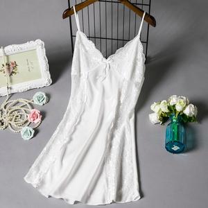 性感睡衣女夏蕾丝边冰丝吊带睡裙薄款情趣内衣激情诱惑丝绸家居服