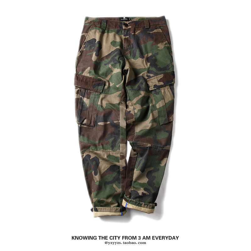 Camouflage pants mens summer Leggings loose straight slim fashion brand yuwenle pants casual overalls